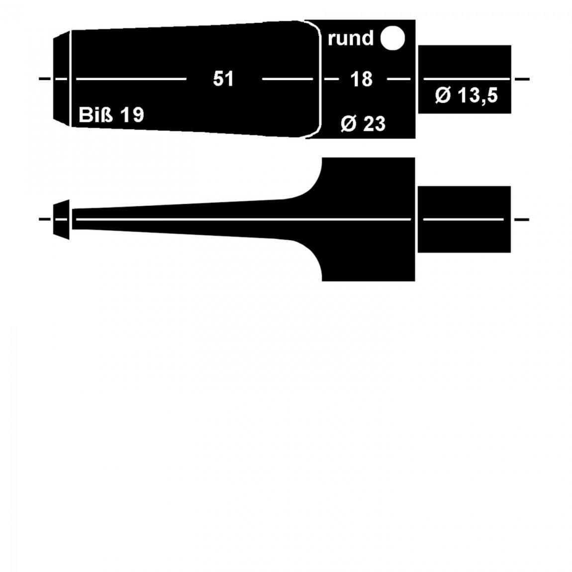 Mundstück aus Ebonit Nr. 11 Sattel rund, vorgedreht 9mm Filter