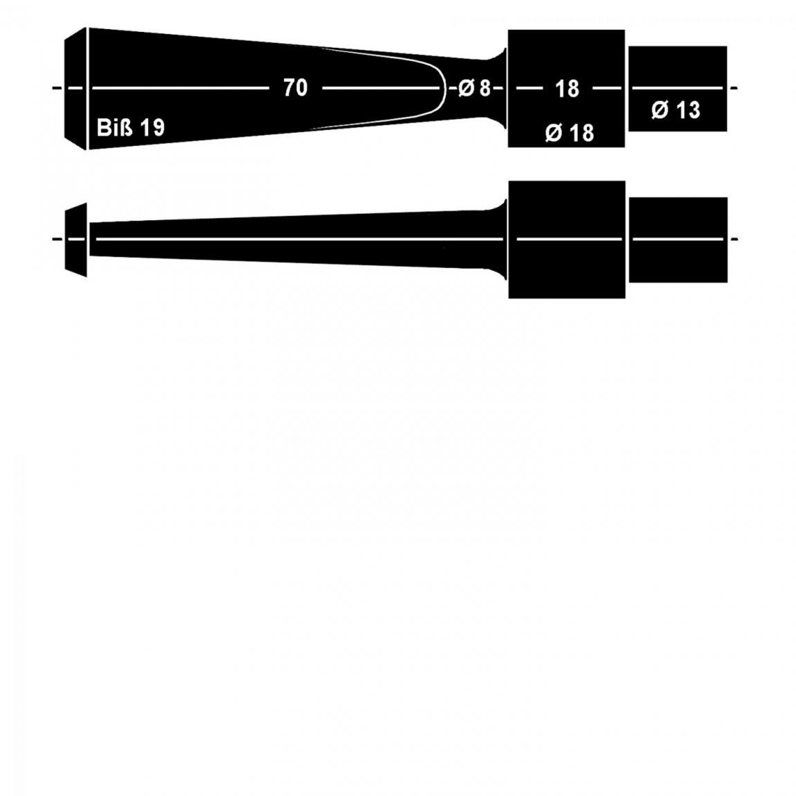 Mundstück aus Ebonit Nr. 36 Fancy, vorgedreht 9mm Filter