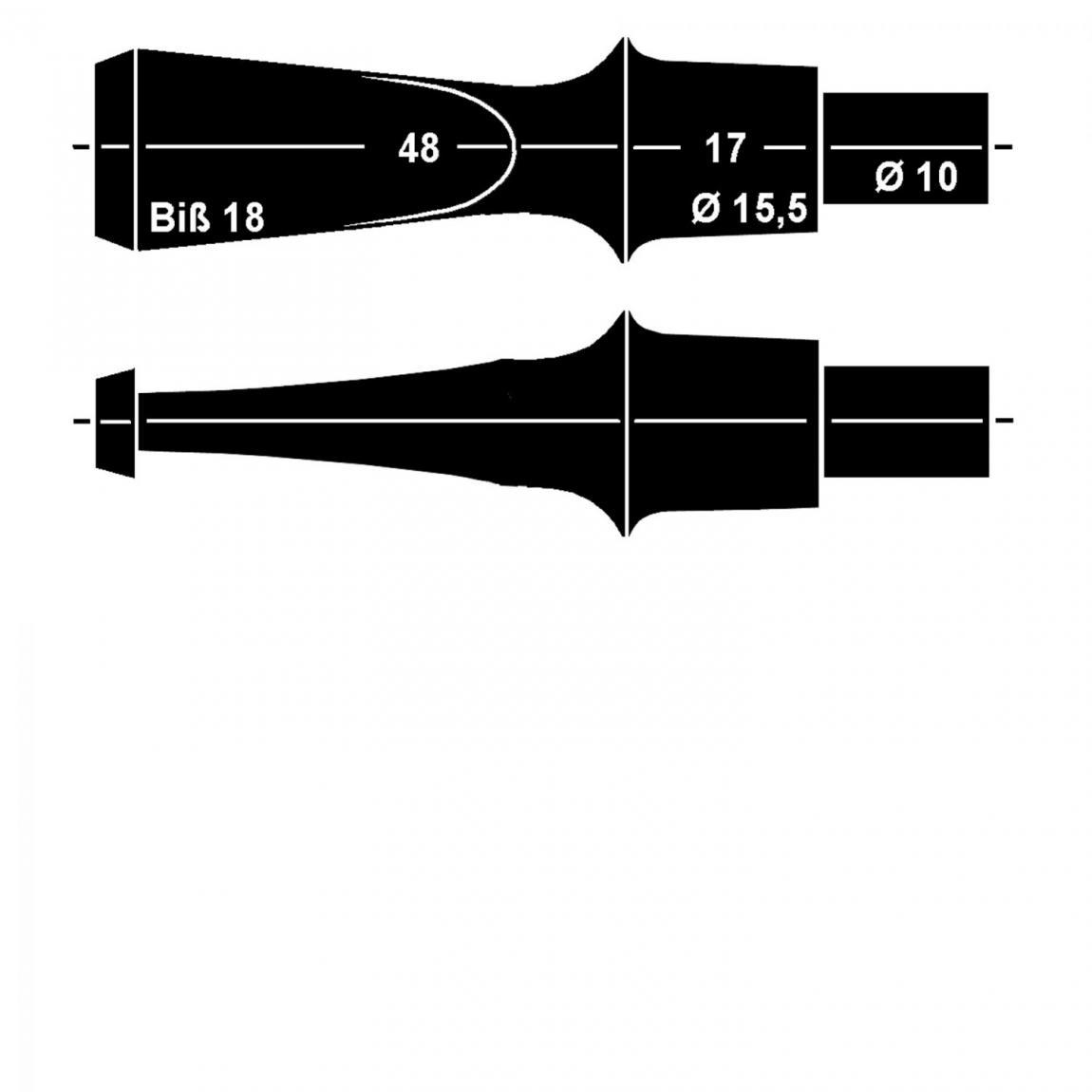 Mundstück aus Ebonit Nr. 37 Fancy, vorgedreht ohne Filter