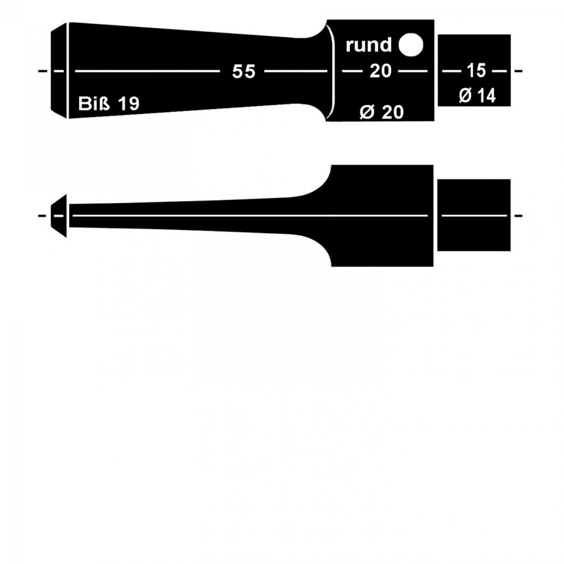Mundstück aus Acryl Nr. 13 Sattel rund, vorgedreht ohne Filter