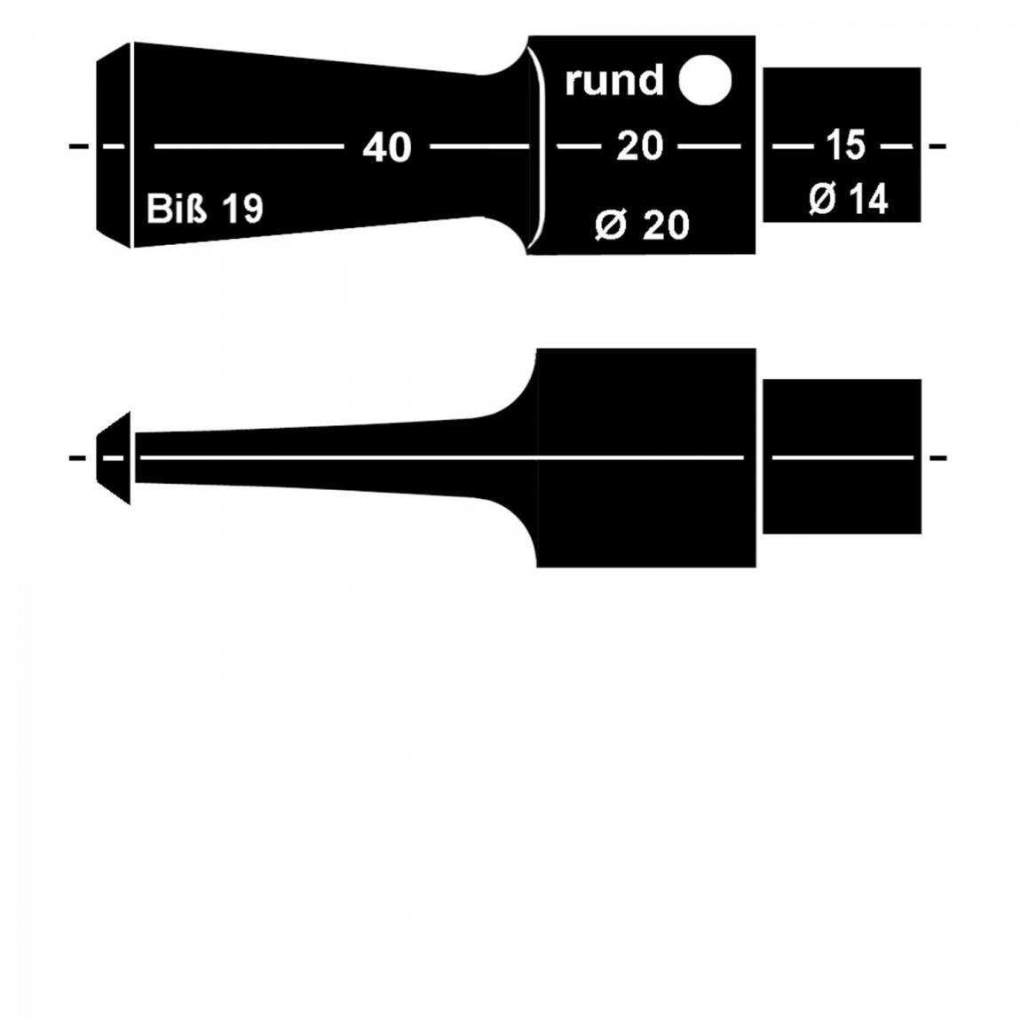 Mundstück aus Acryl Nr. 13/1 Sattel rund, vorgedreht 9mm Filter