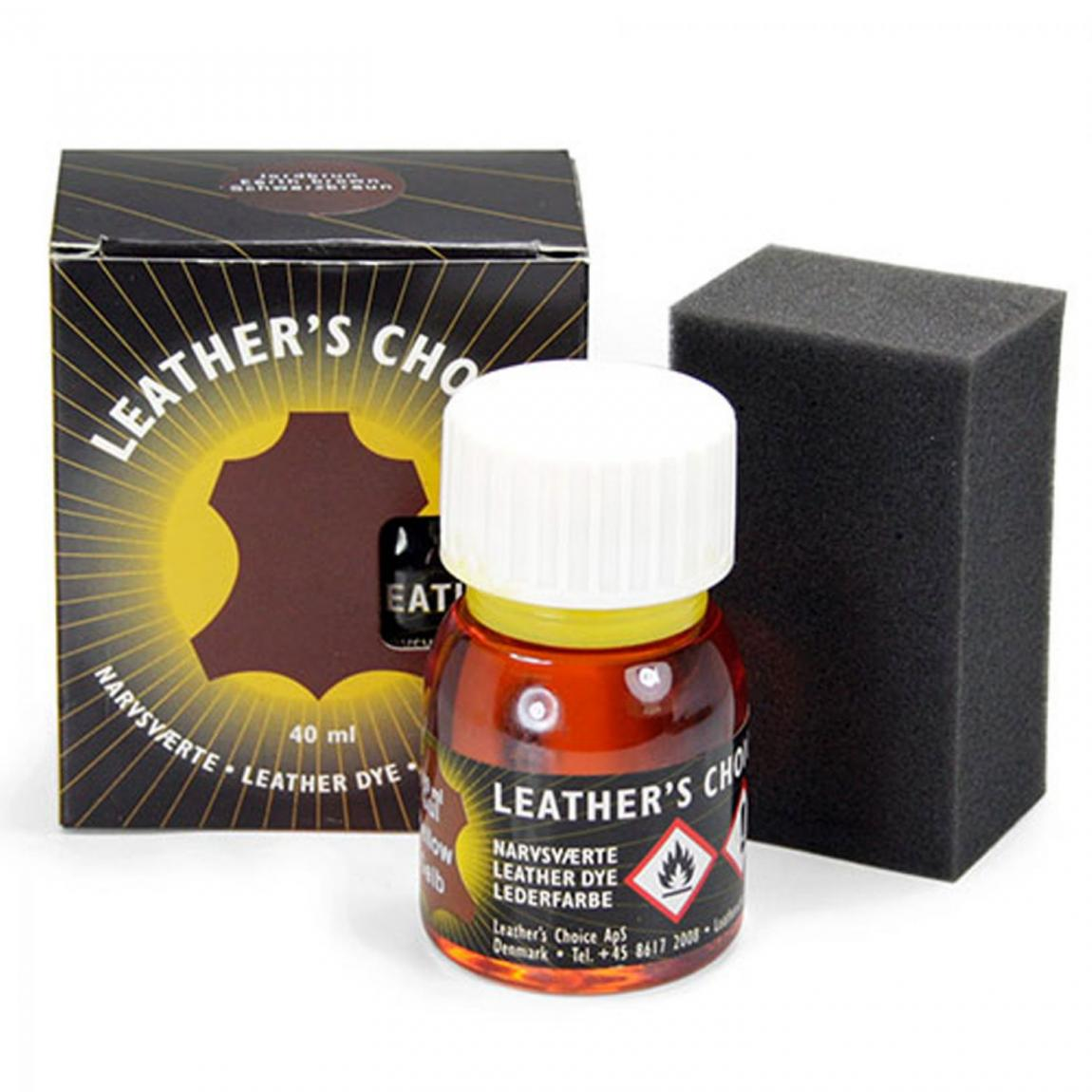 Spezialbeize Leathers Choice - Mahagoni dkl (rødbrun), 40 ml