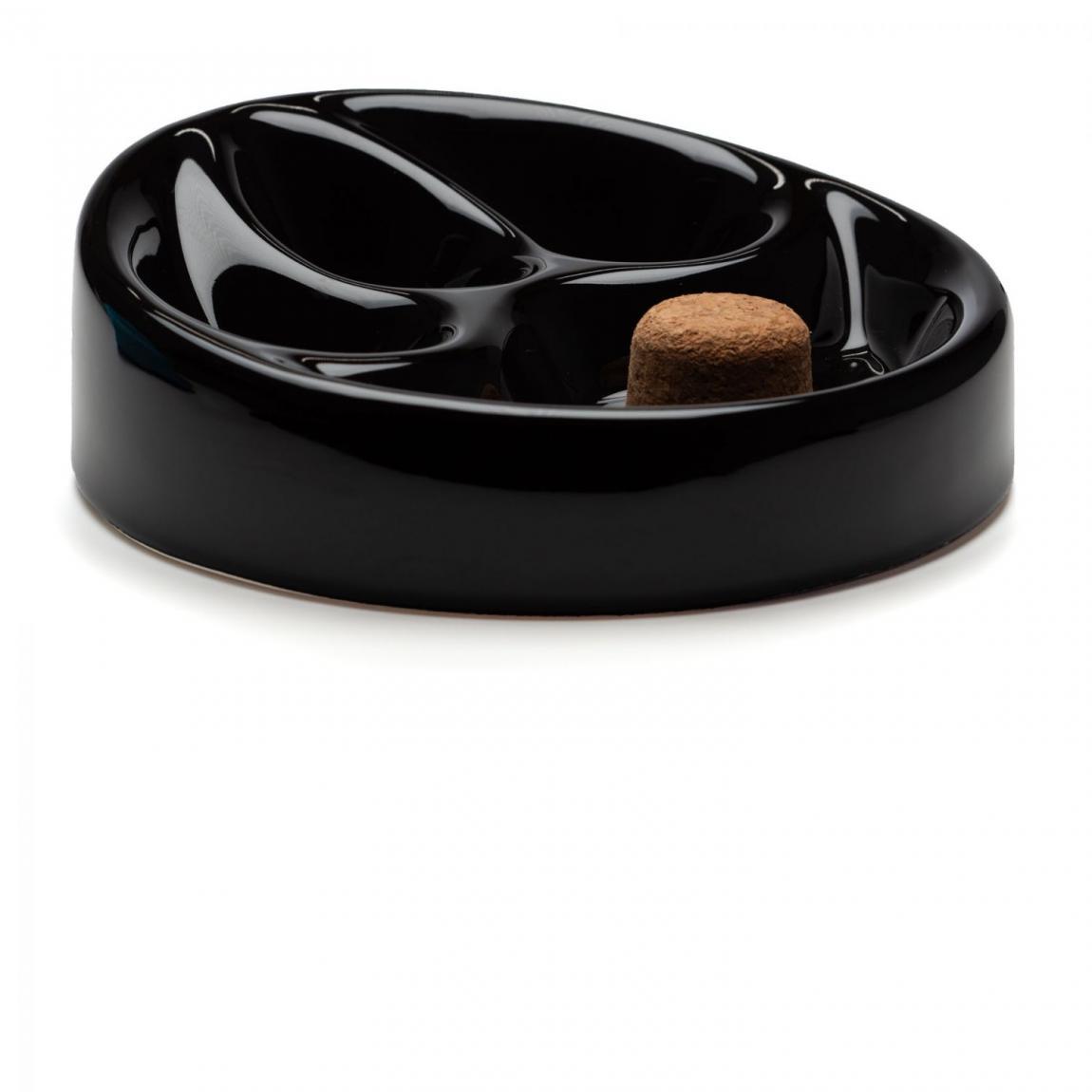 Pfeifenascher Keramik schwarz