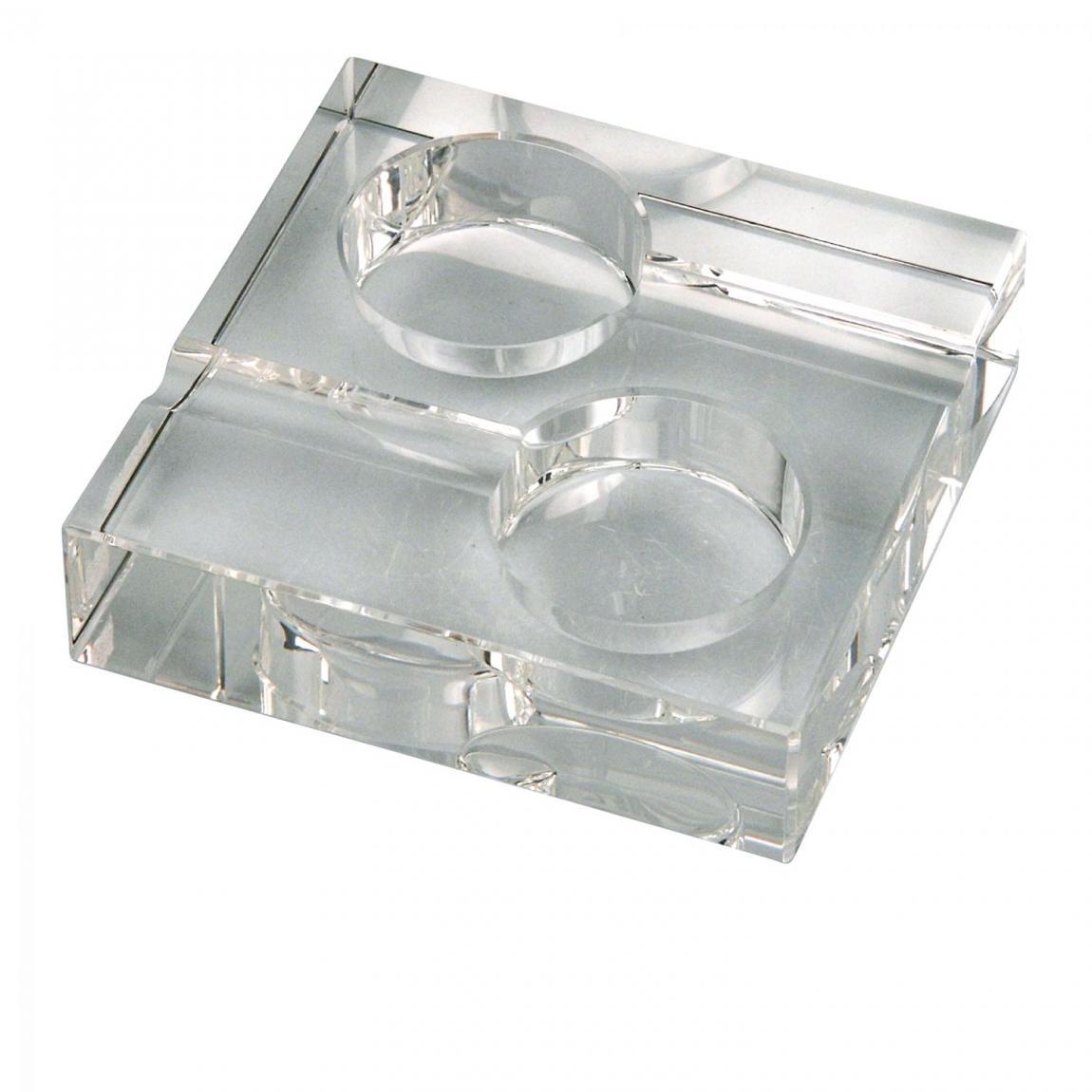 Kristallglas-Zigarrenascher 2 Ablagen quadratisch