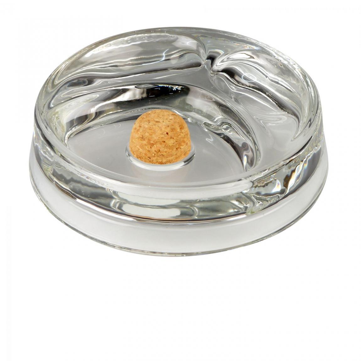 Pfeifenascher aus Klarglas mit 2 Ablagen