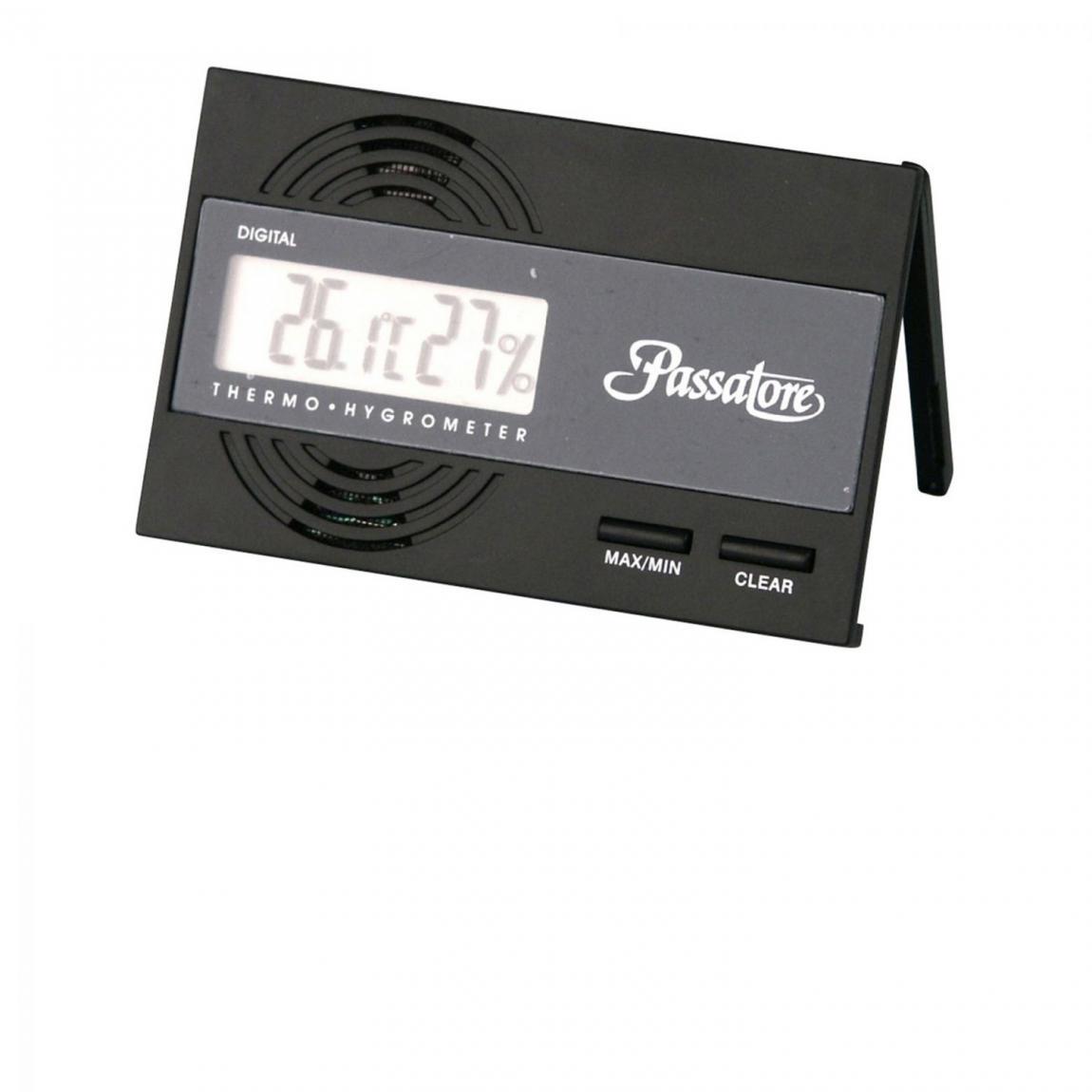 Digitales Hygro-/Thermometer, schwarz