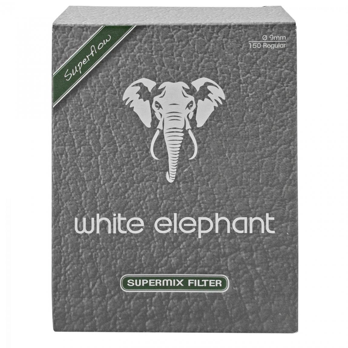 White Elephant Supermix Aktivkohle- und Meerschaumfüllung 9mmFilter, 150 Stück