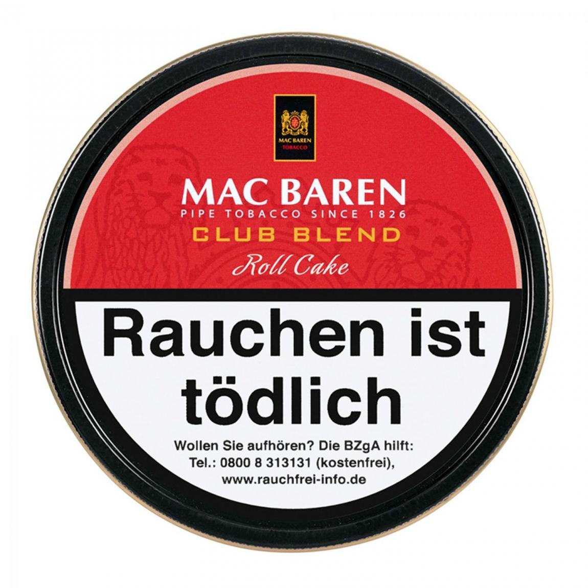 Mac Baren »Club Blend« Roll Cake 100g Dose