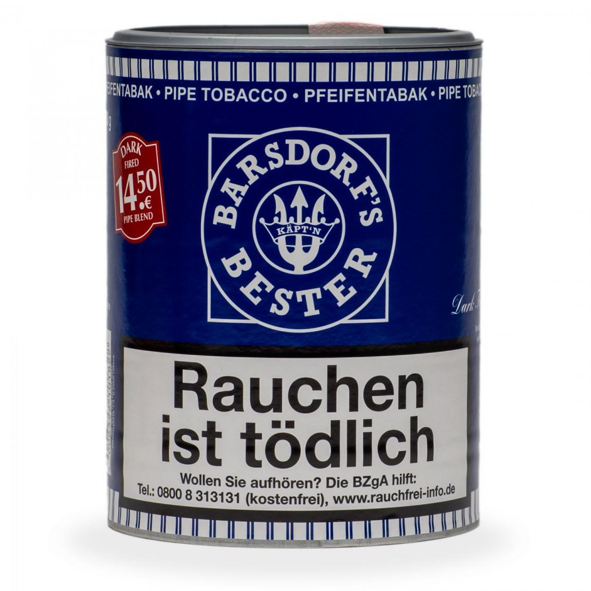 Barsdorf's Bester »Dark Fired Pipe Blend« 160g Dose
