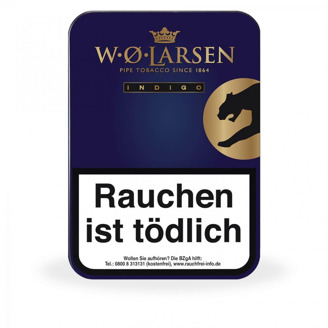W. Ø. Larsen »Indigo Pipe Tobacco« 100g Dose