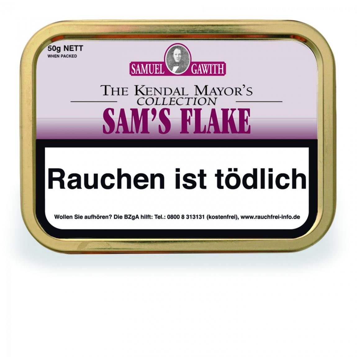 Samuel Gawith The Kendal Mayor's Collection »Sam's Flake« 50g Dose