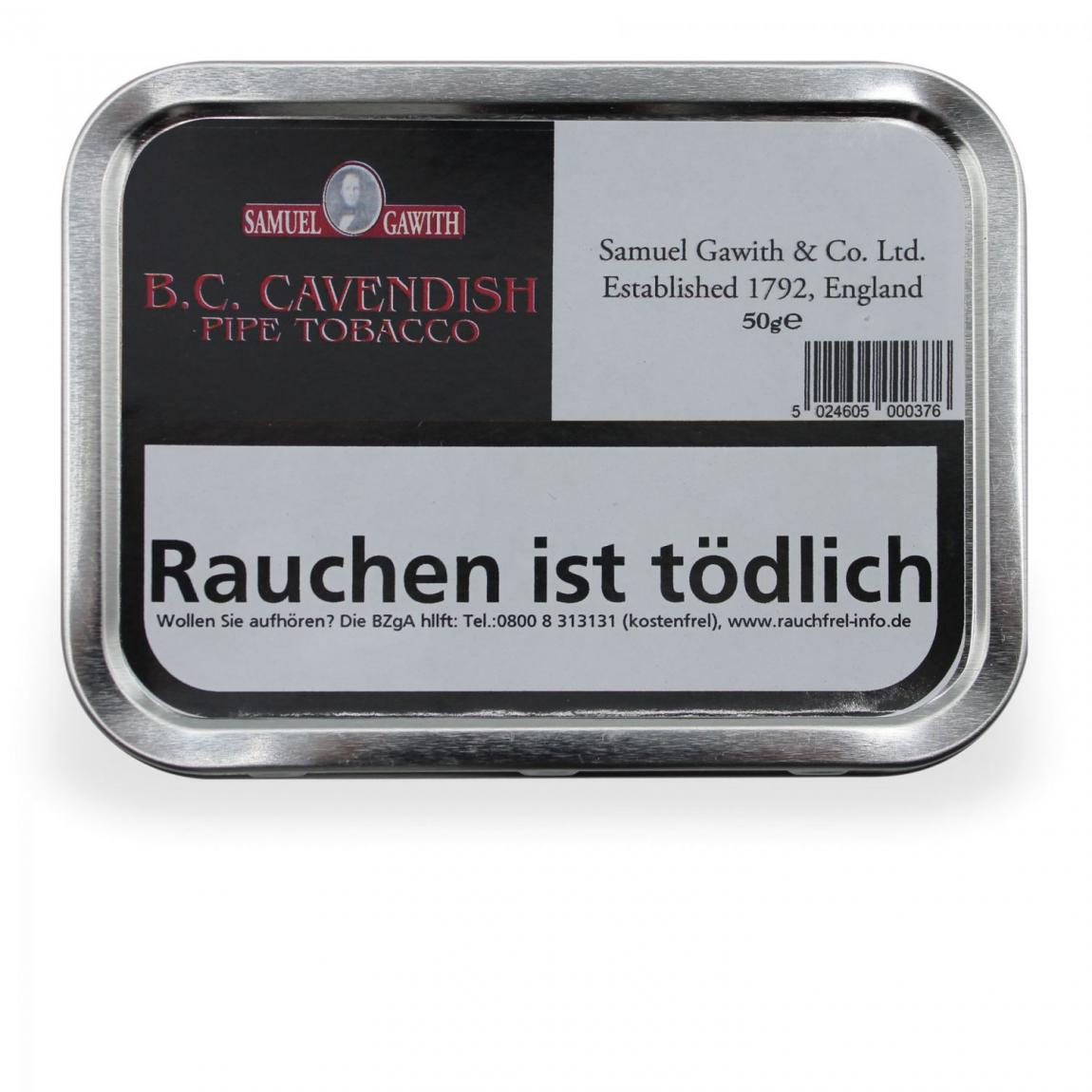 Samuel Gawith »BC Pipe Tobacco« 50g Dose