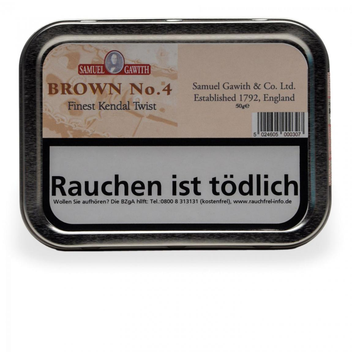 Samuel Gawith »Brown No. 4« 50g Dose