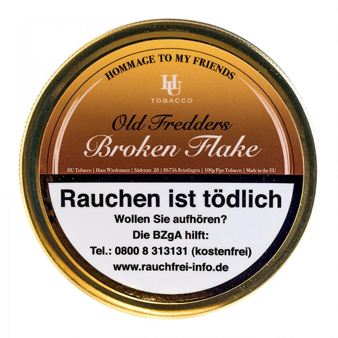 HU Tobacco »Old Fredder´s Broken Flake« 100g
