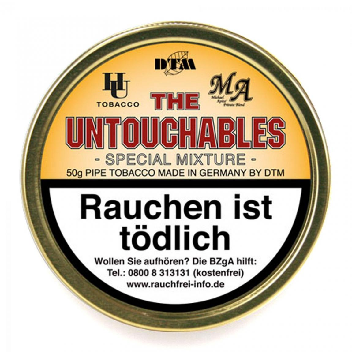 HU & MA Tobacco »THE UNTOUCHABLES« Special Mixture 50g Dose