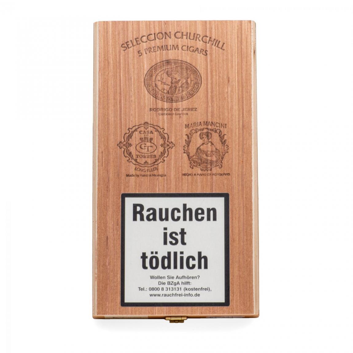 Seleccion »August Schuster« Churchill 5er Kiste