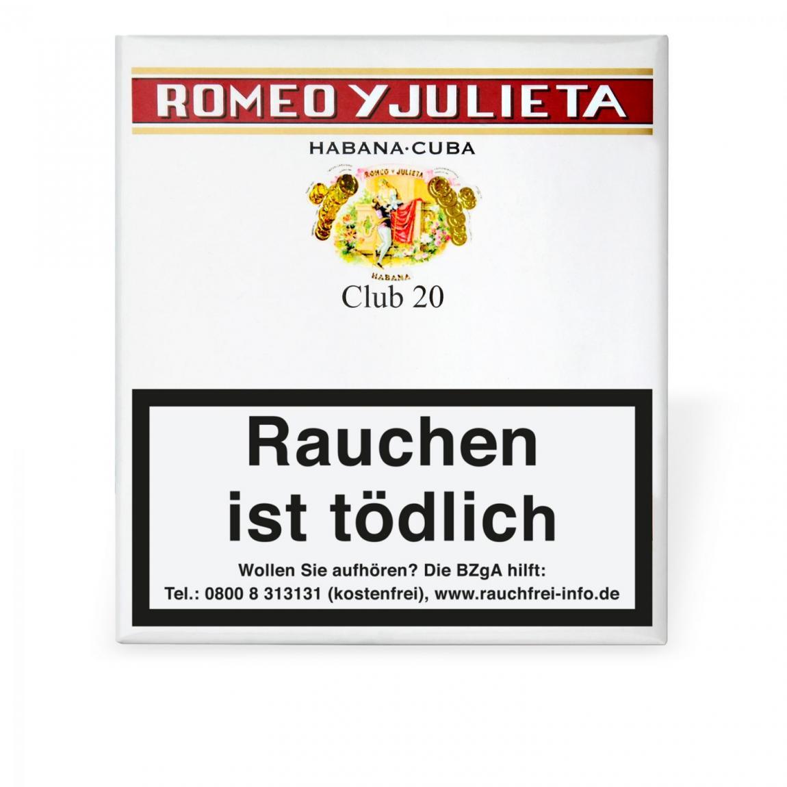 Romeo y Julieta Club 20er Schachtel