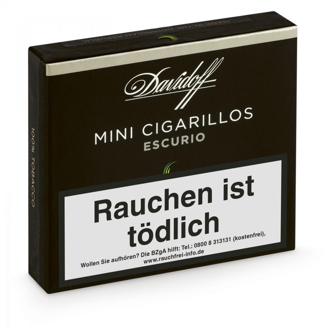 DAVIDOFF Mini Cigarillos Escurio 20er Schachtel