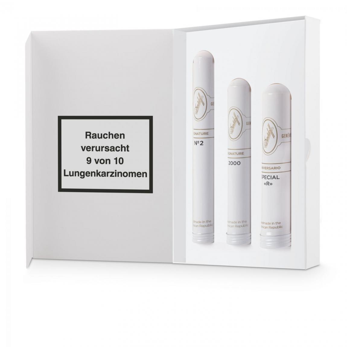 Davidoff Tubos Selection White Sampler, 3er Schachtel