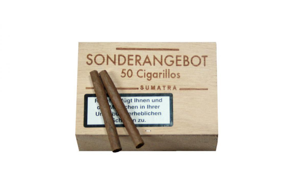 SONDERANGEBOT Cigarillos Sumatra 50er Holzkiste