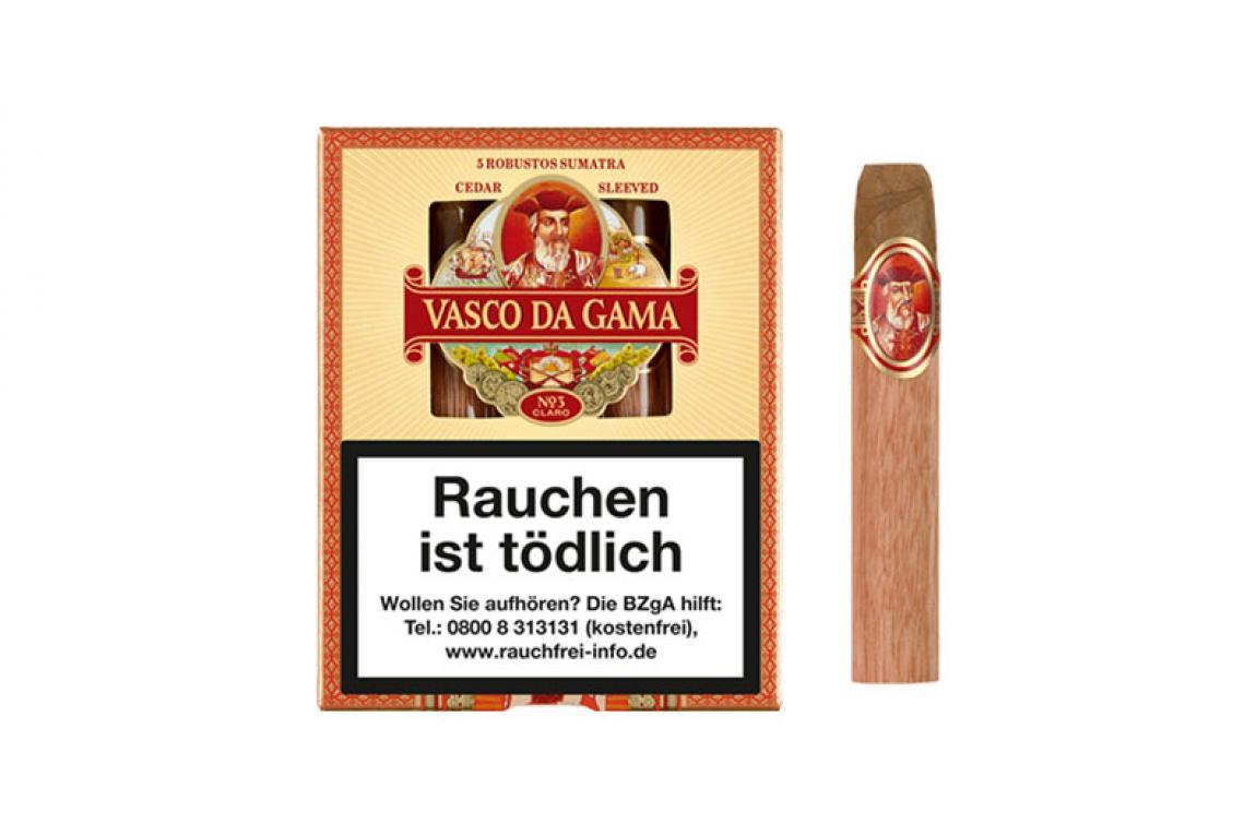 VASCO DA GAMA No. 3 Robustos Sumatra 5er Schachtel