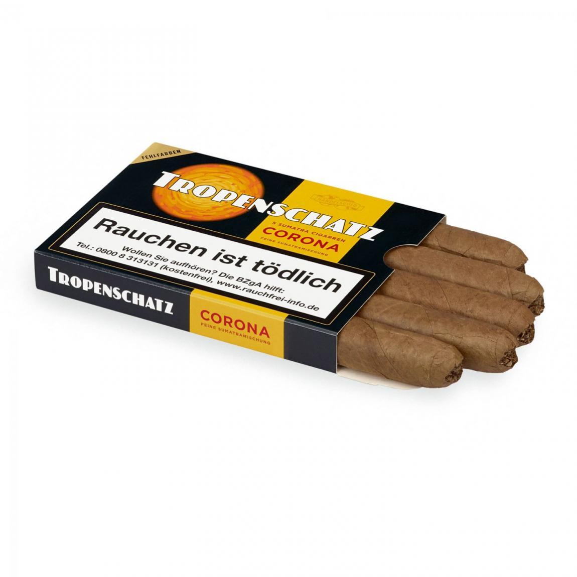 Handelsgold »Tropenschatz« Coronas Sumatra 421, 5er Schachtel