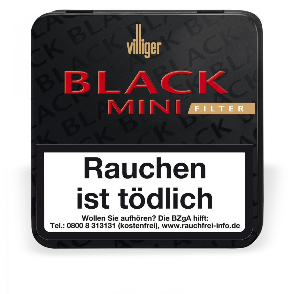 Villiger Black Mini mit Filter 20er Metallschachtel