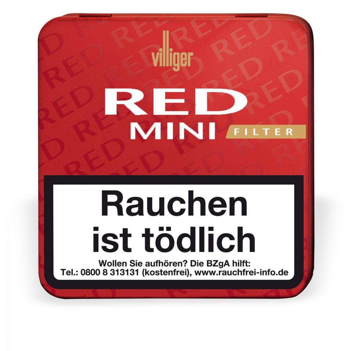 Villiger Red Mini mit Filter 20er Metallschachtel