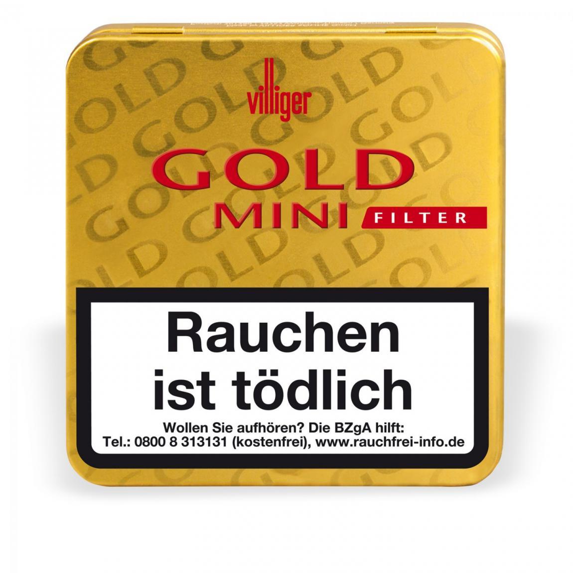 Villiger Gold Mini mit Filter 20er Metallschachtel
