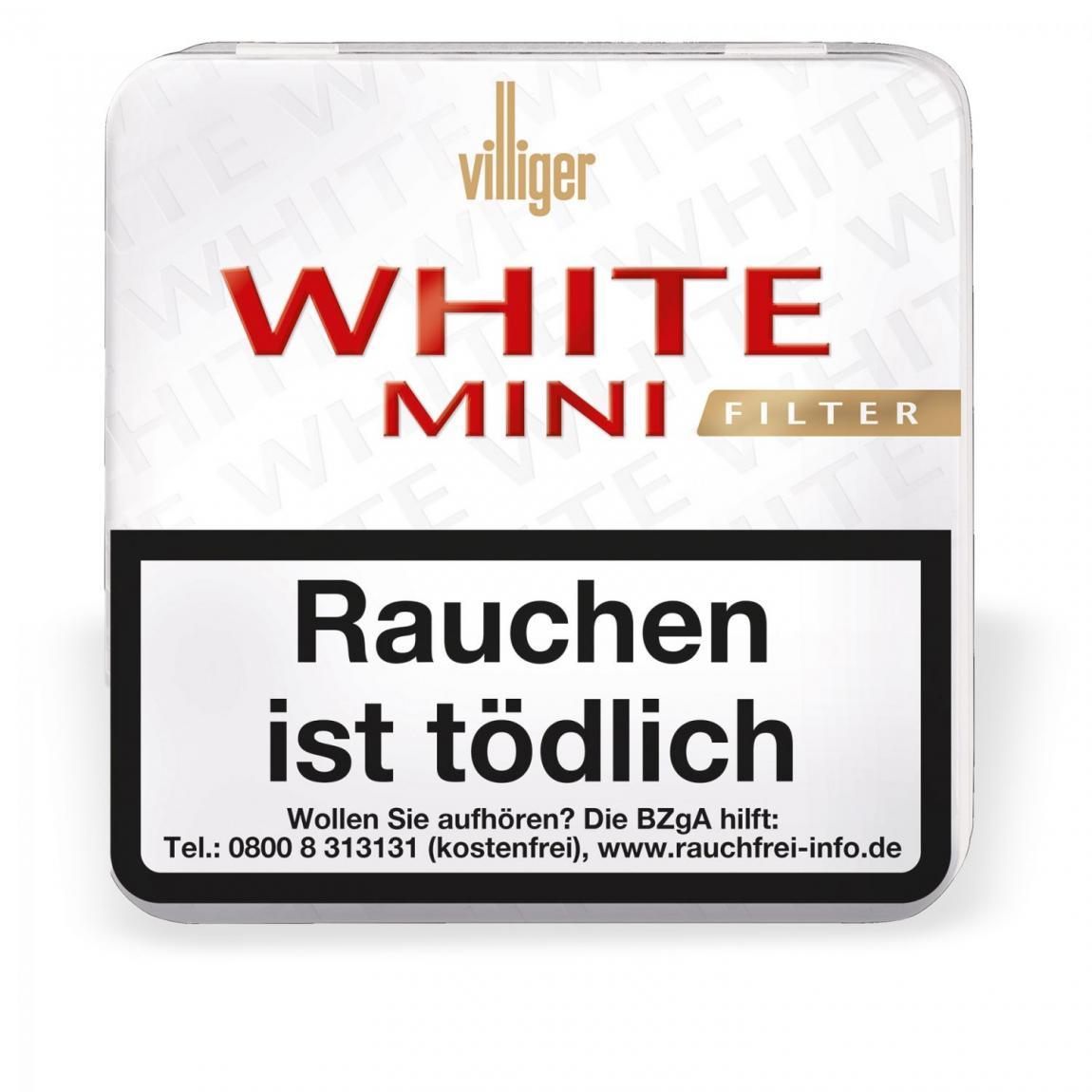 Villiger White Mini mit Filter 20er Metallschachtel