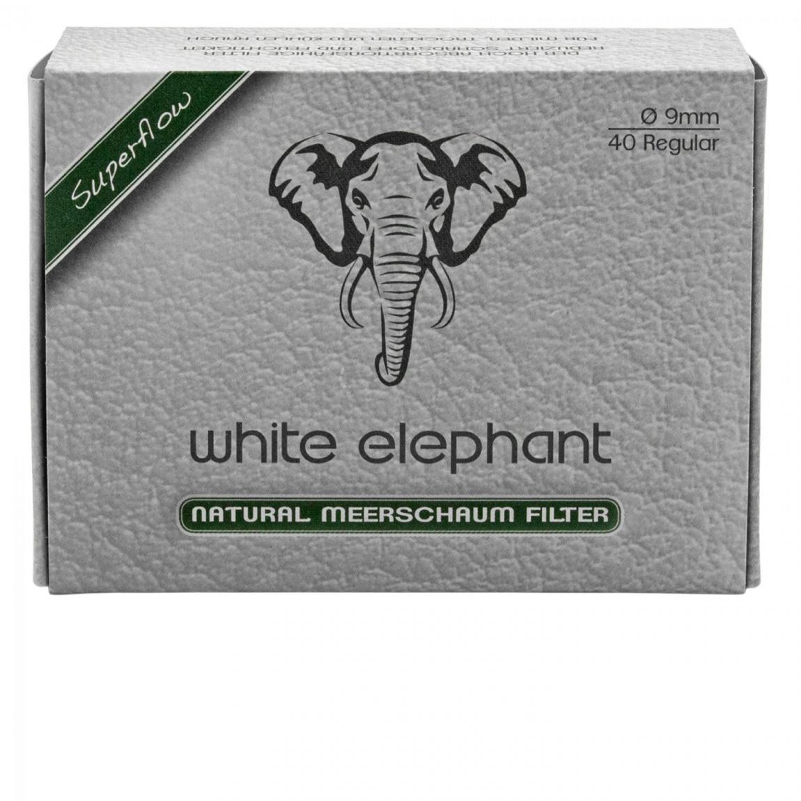 white elephant Natur-Meerschaum-Filter 9mm, 10x40 Stück