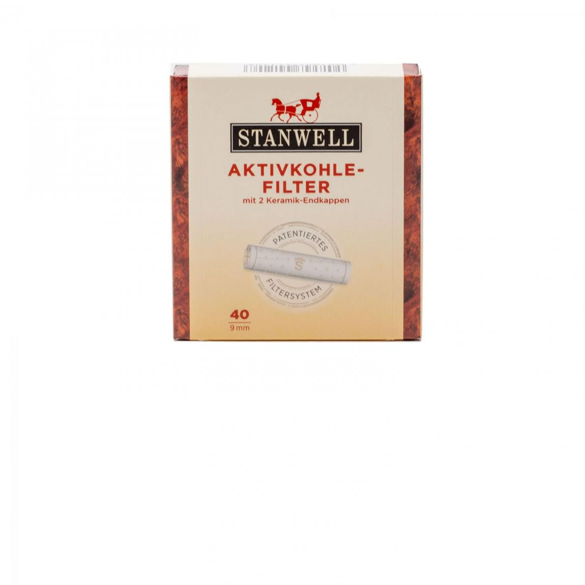 Stanwell Aktivkohle-Filter 9mm 1x40 Stück