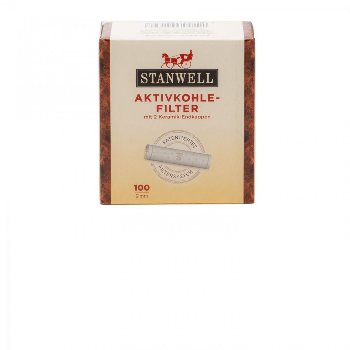 Stanwell Aktivkohle-Filter 9mm 1x100 Stück