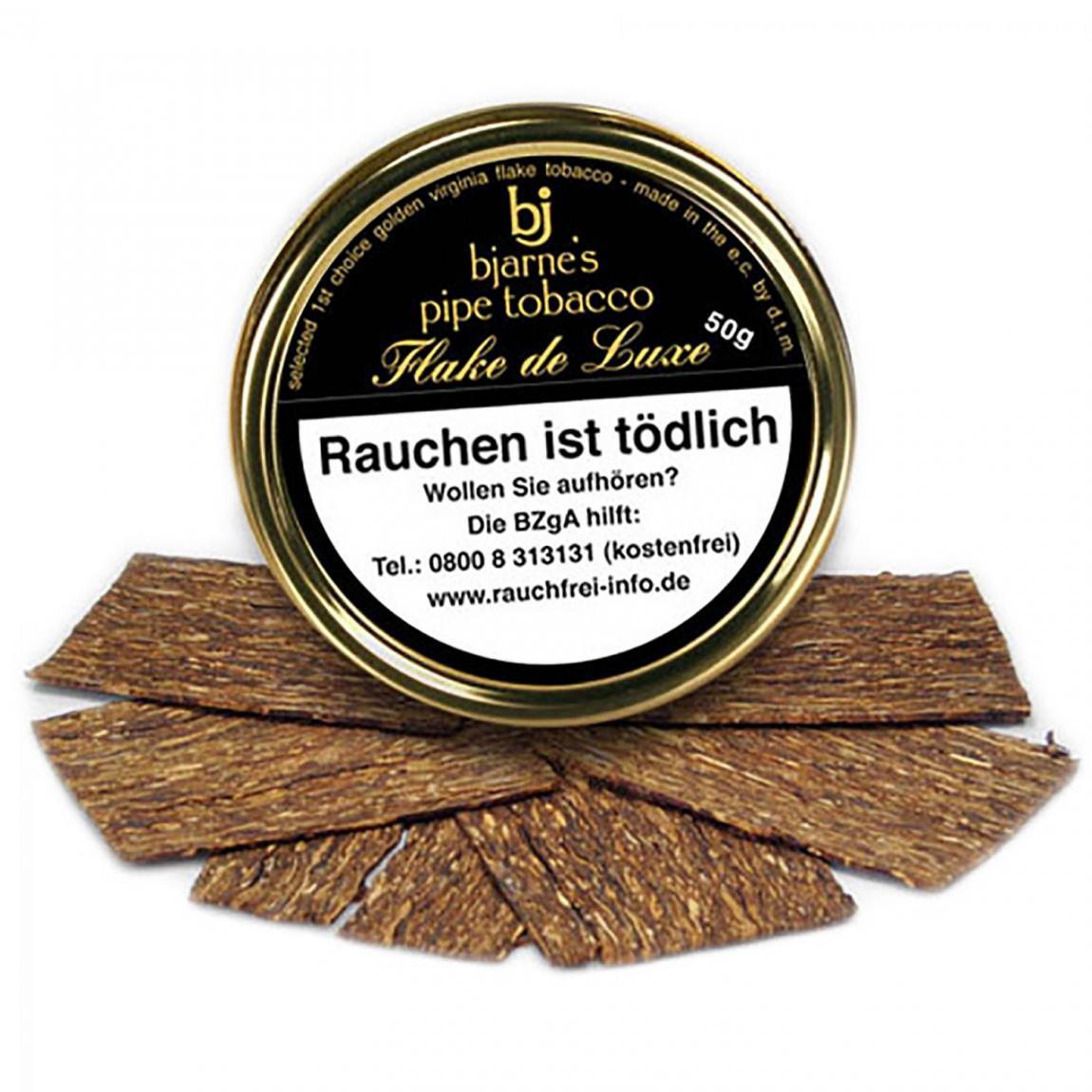 bjarne's pipe tobacco Flake de Luxe 50g Dose