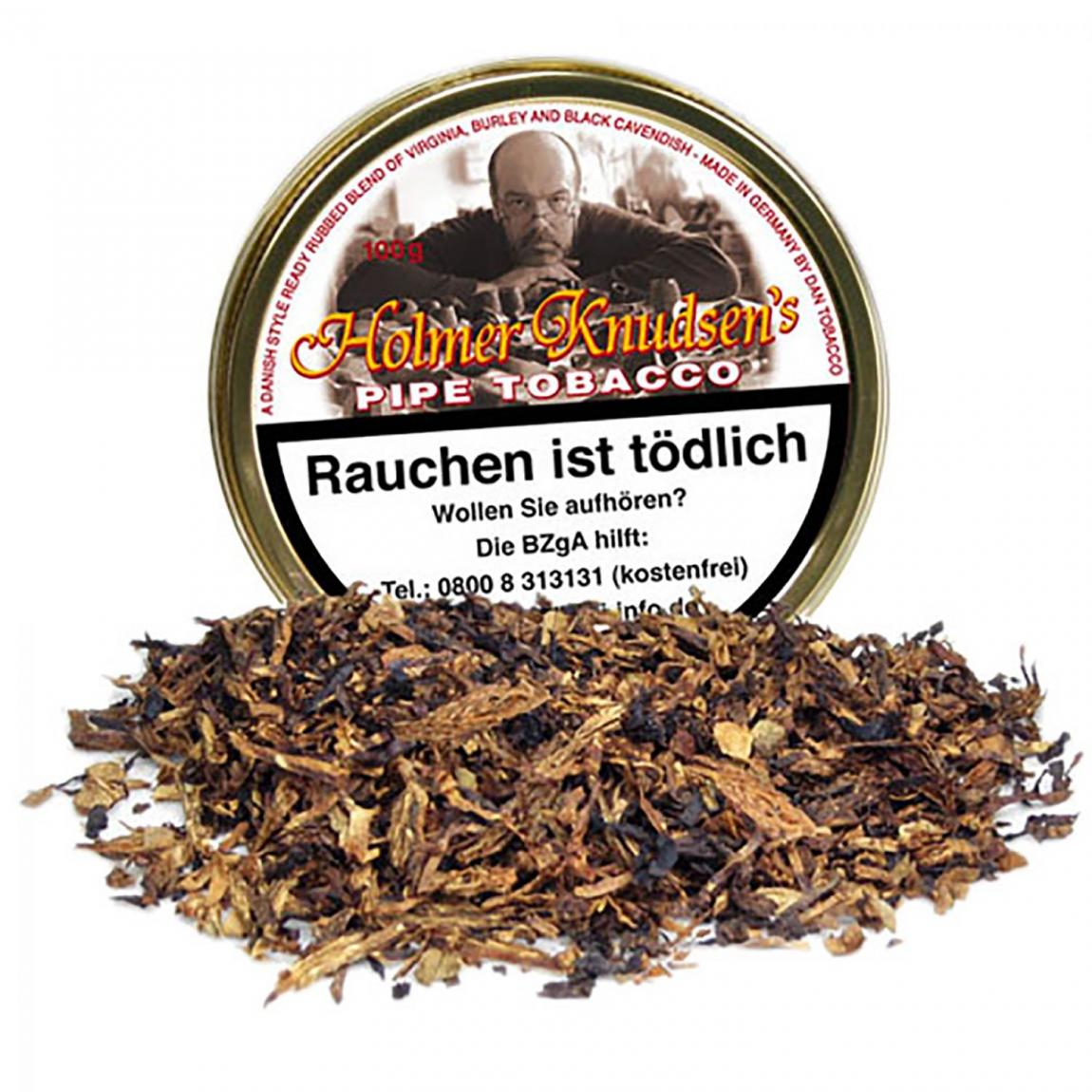 Holmer Knudsen's Pipe Tobacco - Ready Rubbed mit cremiger Süße