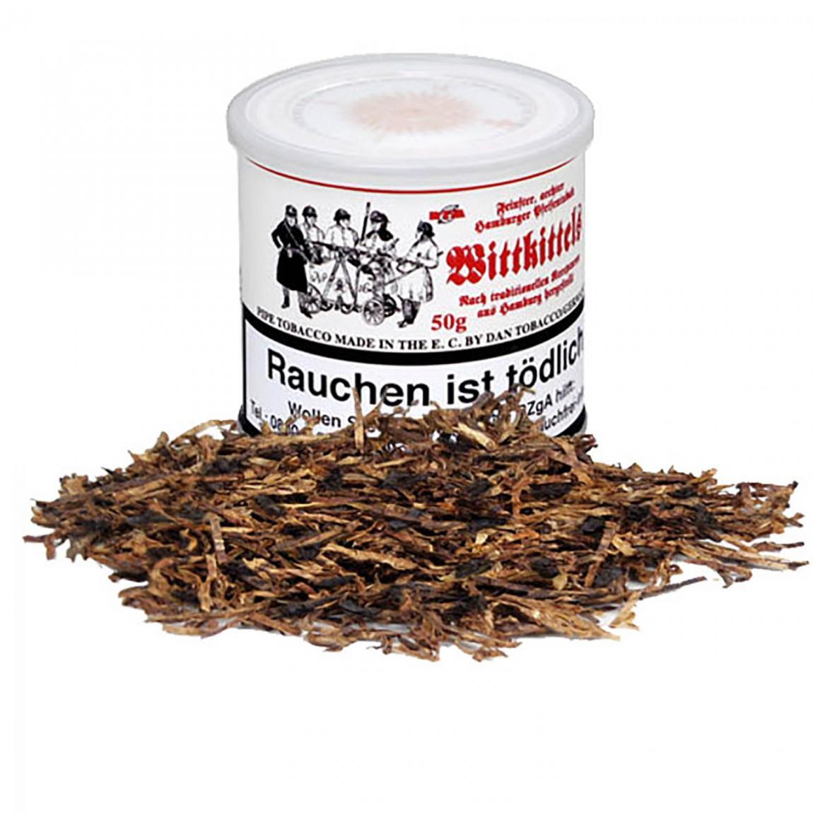 Hamburger Pfeifentabak Wittkittels - Ready Rubbed, sanftes Aroma