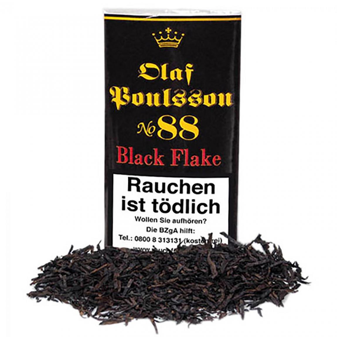 Olaf Poulsson No. 88 Black Flake 50g Pouch