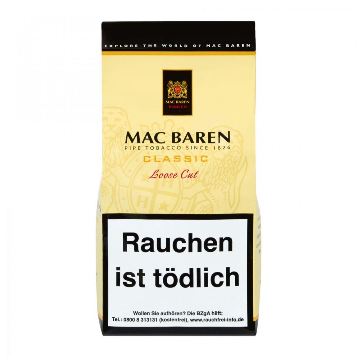 Mac Baren »Classic« Loose Cut 125g Faltbeutel
