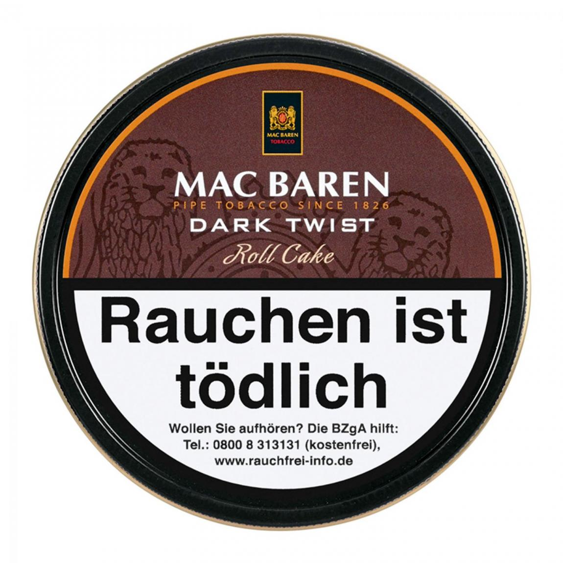 Mac Baren »Dark Twist« Roll Cake 100g Dose