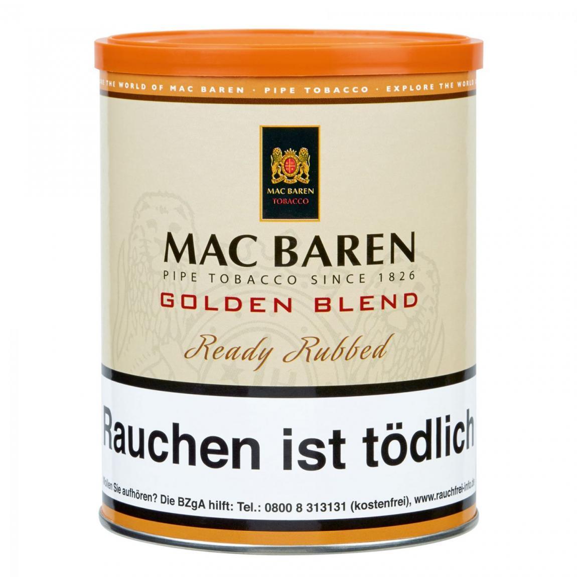 Mac Baren »Golden Blend« Ready Rubbed 250g Dose