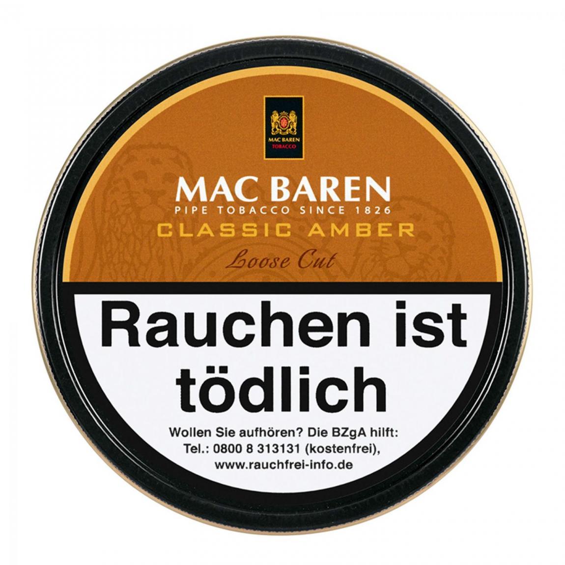 Mac Baren »Classic Amber« Loose Cut 100g Dose