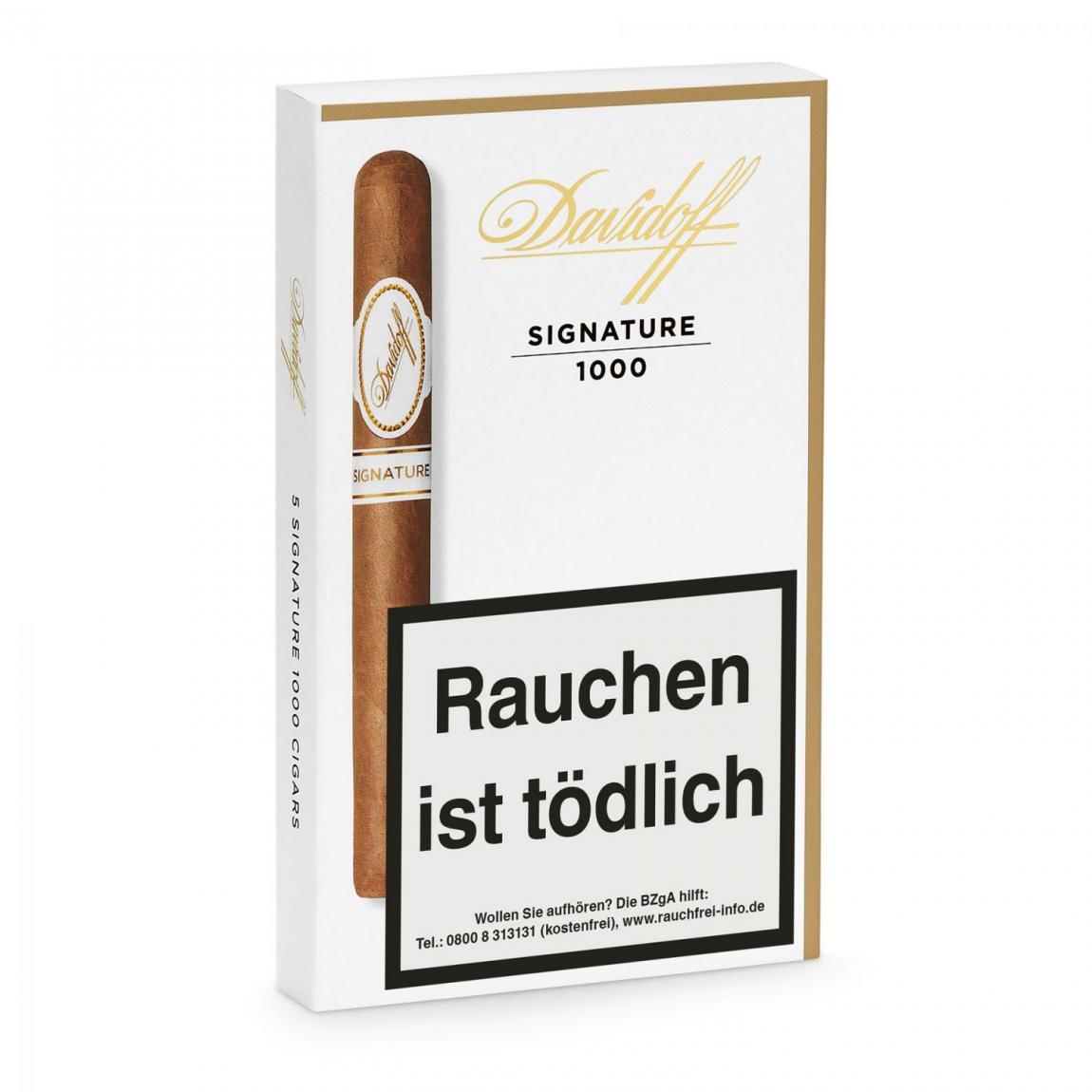 Davidoff »Signature« 1000, 5er Schachtel