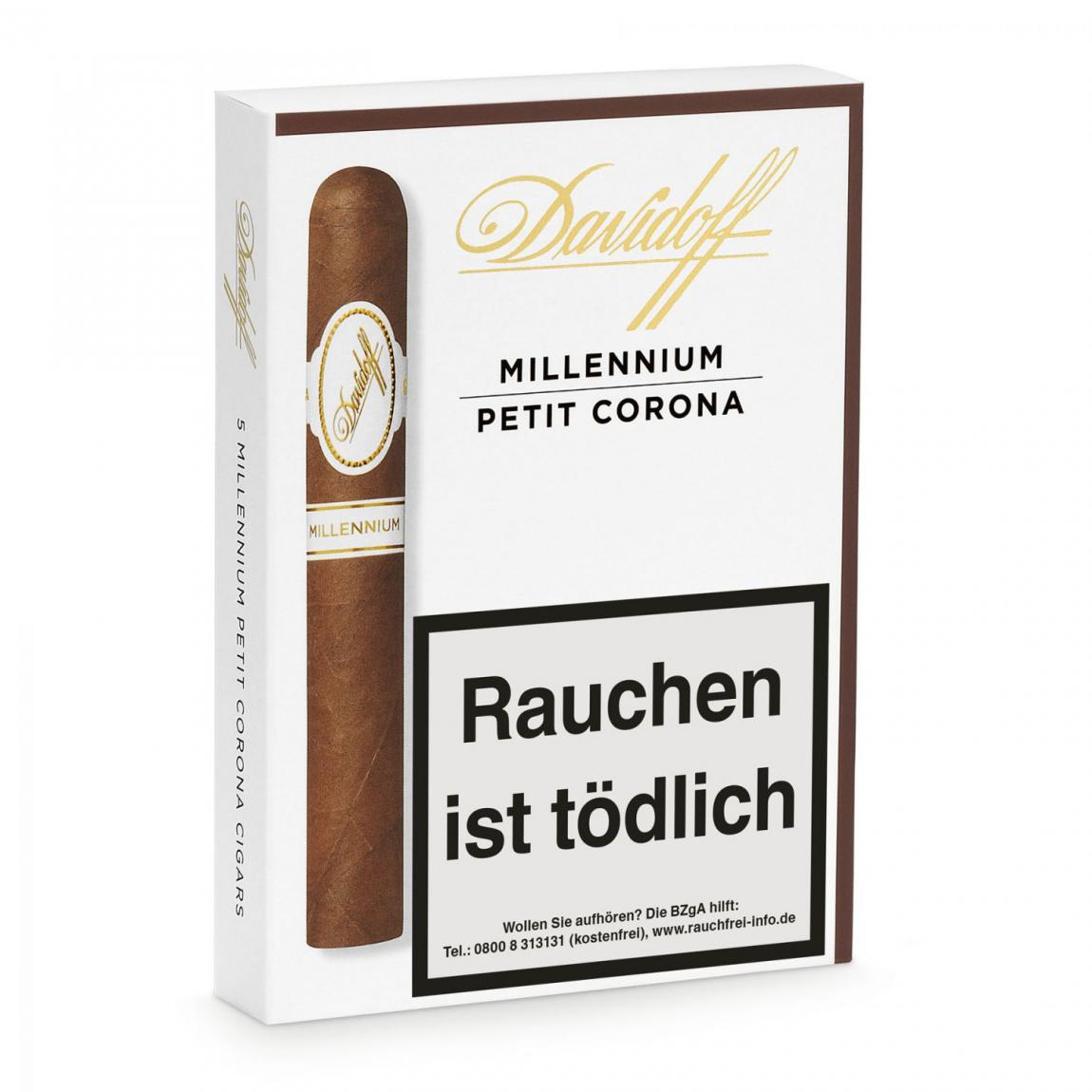 *Davidoff »Millennium« Petit Corona, 5er Schachtel