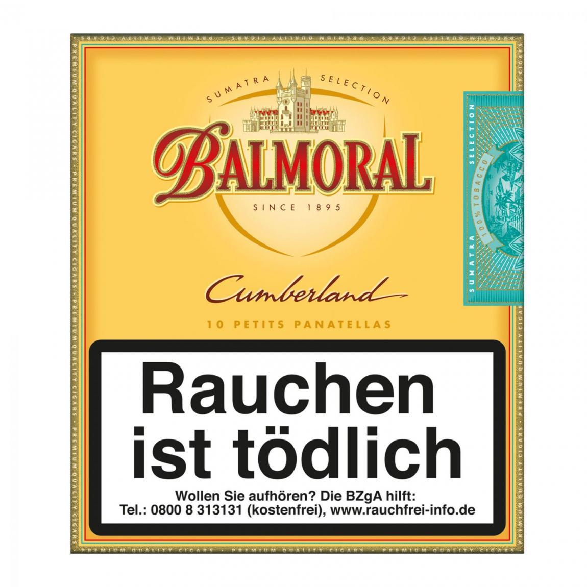 Balmoral Sumatra Selection Cumberland Petit Panatela 10er Schachtel