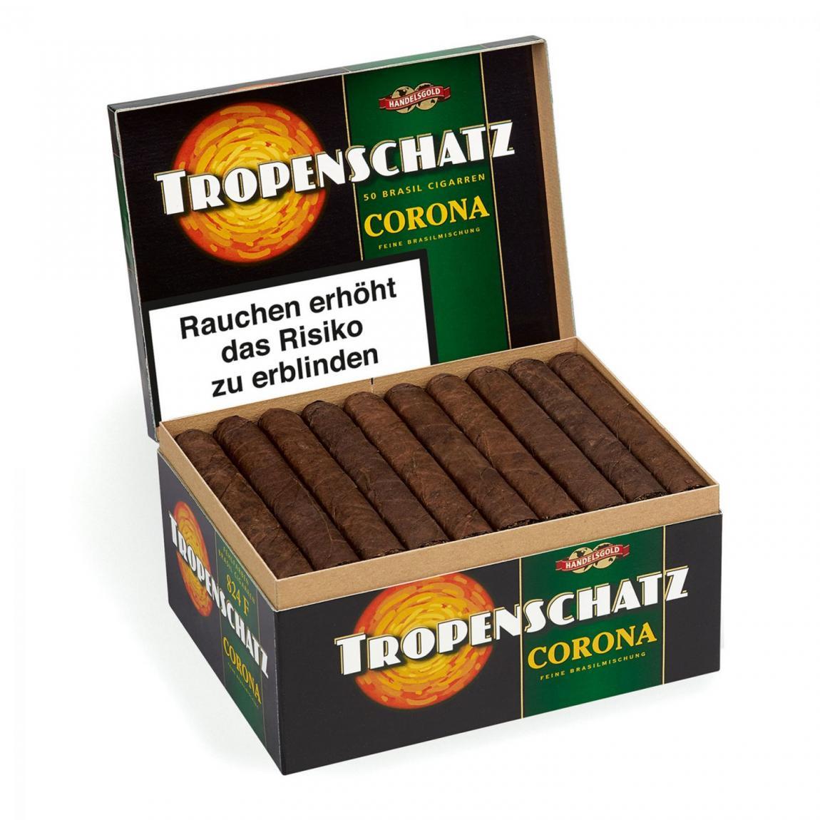 Handelsgold »Tropenschatz« Coronas Brasil 824, 50er Karton